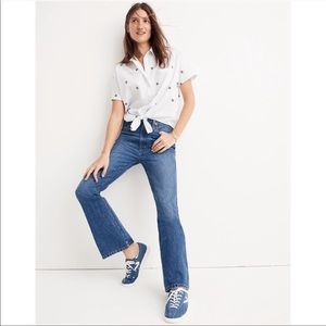Madewell High Rise Rigid Flare Leg Denim Jeans